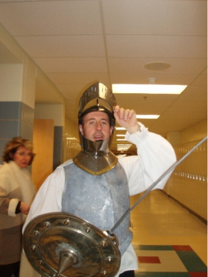 Don Quixote visits Milton High School